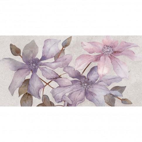 Decor faianta baie / bucatarie 2651-0085 Land Violet gri mat 25 x 50 cm