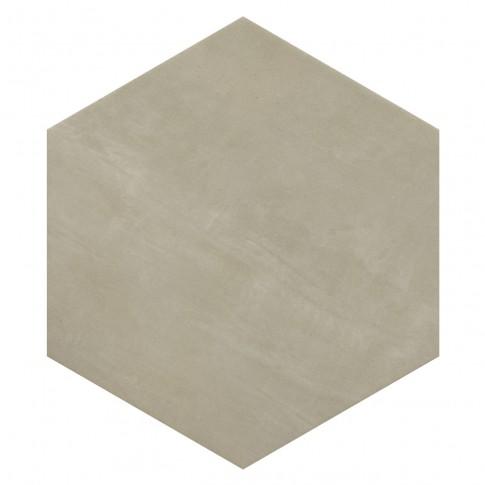 Gresie exterior / interior portelanata Provenza Hexagon mata bej 33 x 38 cm