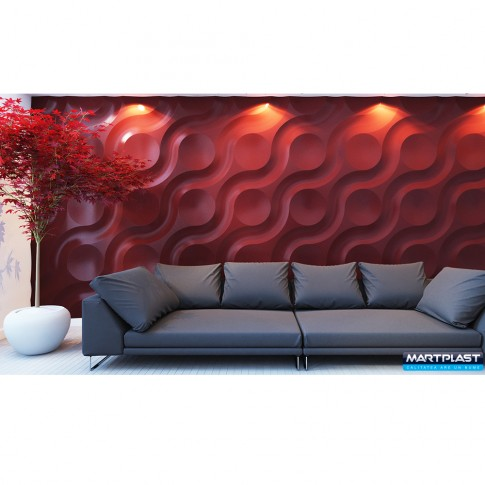 Panou decorativ 3D Oasis, ipsos, 60 x 60 cm