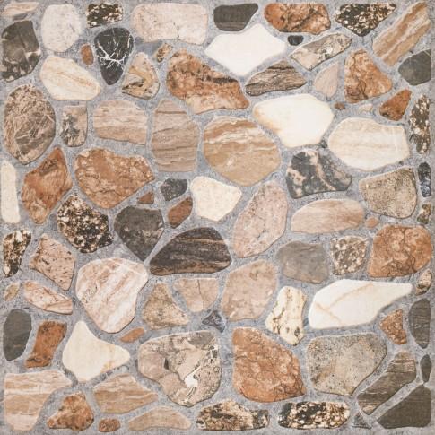 Gresie exterior / interior portelanata antiderapanta Sorrento bej, mata, imitatie piatra, 32.6 x 32.6 cm