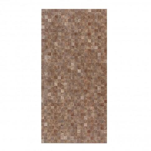 Faianta baie / bucatarie mozaic Royal Garden, maro, lucioasa 29.7 x 60 cm