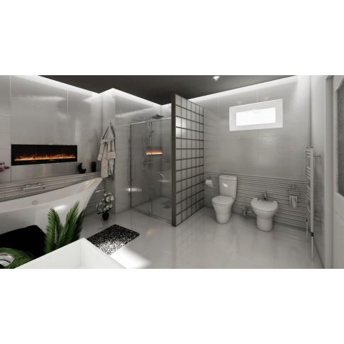 Faianta baie / bucatarie Parisien rectificata gri lucioasa 24.4 x 74.4 cm