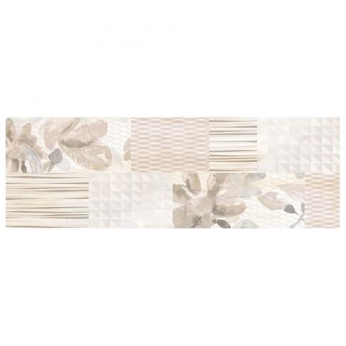 Decor faianta baie / bucatarie Musa Beige J Wave bej lucios 24.4 x 74.4 cm
