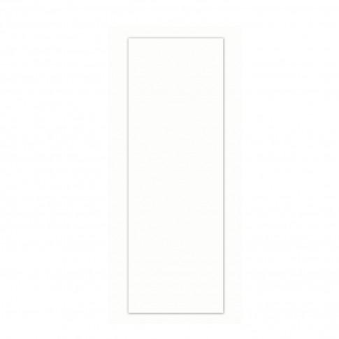 Faianta baie / bucatarie Flat Glossy alba lucioasa 10 x 30 cm