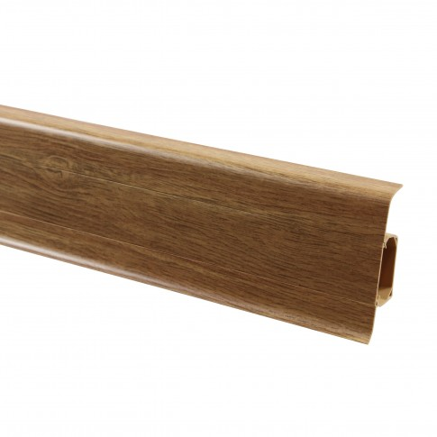 Plinta parchet PVC Vox Esquero 608 canal stejar rosu 2500 x 66.6 x 29.1 mm