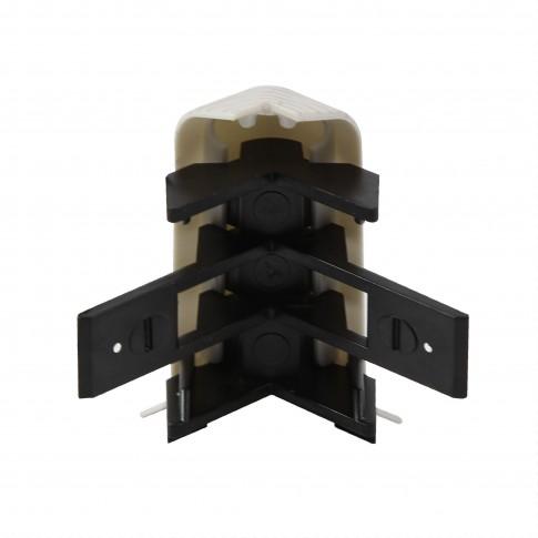 Colt exterior pentru plinta SET 10456-6009 gri alaska 52 x 60 mm 2 buc/set