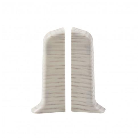 Terminatie pentru plinta, stanga / dreapta, SET 10456-6009, PVC, gri alaska, 52 x 20 mm, 4 buc / set