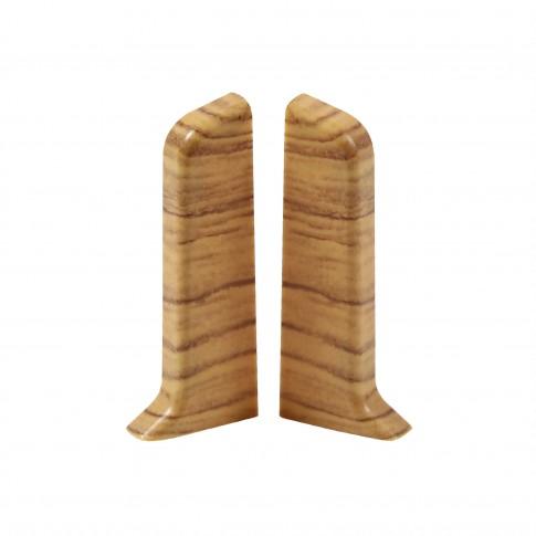 Terminatie pentru plinta, stanga / dreapta, SET 10456-6012, PVC, stejar sutter, 52 x 20 mm, 4 buc / set