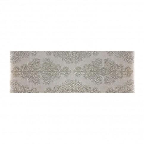 Decor faianta baie / bucatarie Limestone, gri inchis, mat, 25 x 75 cm