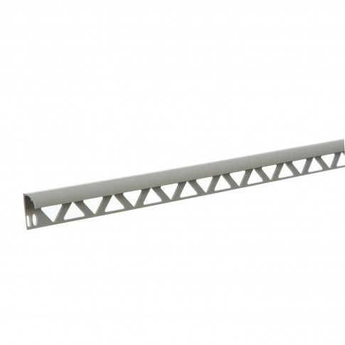 Profil PVC margine gresie si faianta, SET, uni, gri, 10 mm, 2.5 m