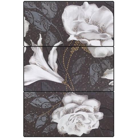 Decor faianta baie / bucatarie Liverpool (Ysios) Aurea x 3 Negro lucios 25 x 50 cm