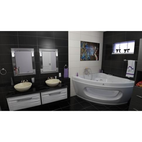 Decor faianta baie / bucatarie Liverpool Ysios Rocio Negro x 6 lucios 25 x 50 cm