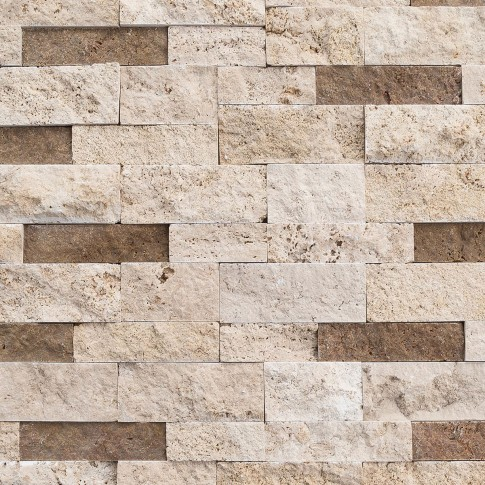 Mozaic Classic Mesta Noce Travertin Split Face crem maroniu 2.3 x 4.8 cm