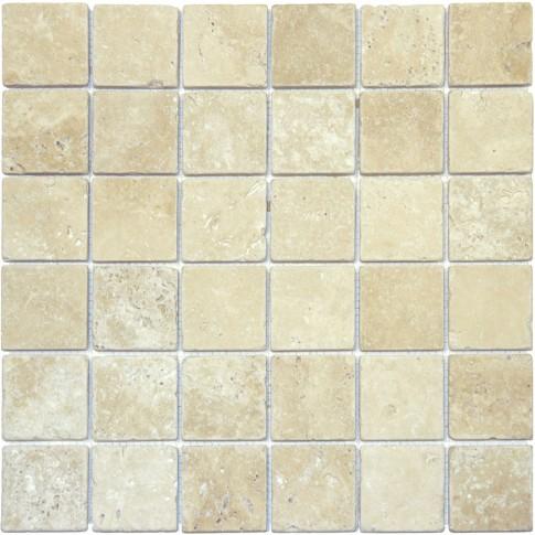 Mozaic Classic Mesta Travertin Tumbled crem bej 4.8 x 4.8 cm