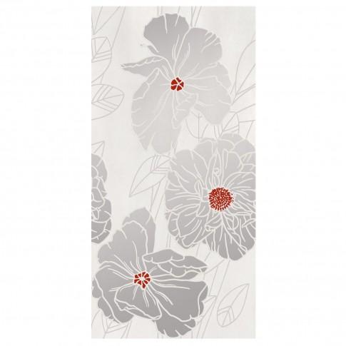 Decor faianta baie / bucatarie Grissa Grey Flower, lucios, gri, 29.7 x 60 cm