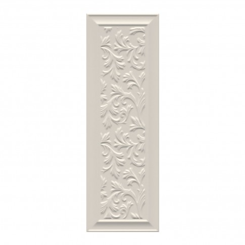Decor faianta baie / bucatarie Villa Medici Relief rectificat crem mat 24 x 74 cm