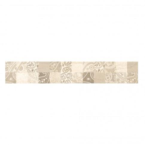 Brau faianta Gusto Orient, bej, lucios, 12.1 x 74.4 cm