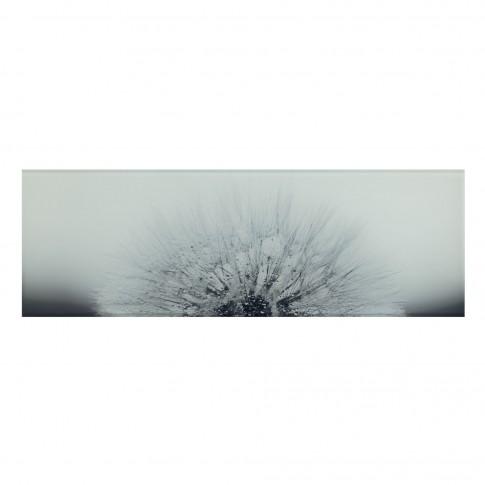 Decor faianta baie / bucatarie Eleganza Flower WD697-005, alb, 25 x 75 cm