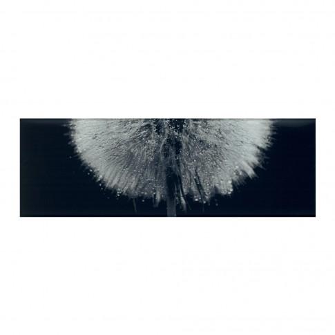 Decor faianta baie / bucatarie Eleganza Flower WD697-006, negru, 25 x 75 cm
