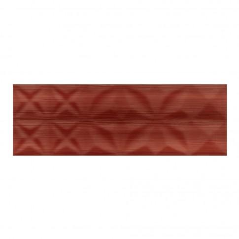 Faianta baie / bucatarie Cersanit Modern Line Red Structure, rosie, 25 x 75 cm