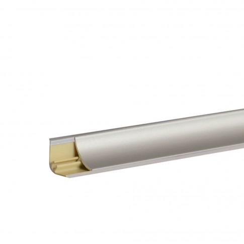 Plinta aluminiu pentru blat bucatarie, gri, 1.5 cm, 3 m