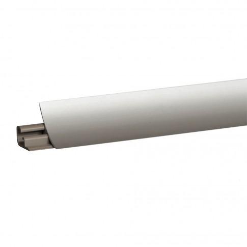 Plinta aluminiu pentru blat bucatarie, Lira, gri, 23 mm, 3 m
