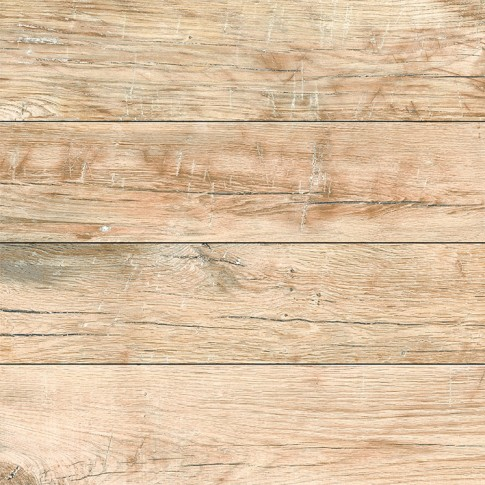 Gresie exterior / interior portelanata Rila Oak mata maro, imitatie lemn, 45 x 45 cm