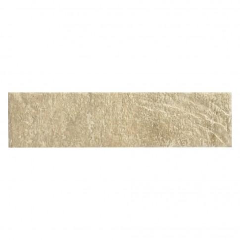 Placa soclu exterior Cerrad Loft Brick, lucioasa, crem, Salt2075, 6.5 x 24.5 cm