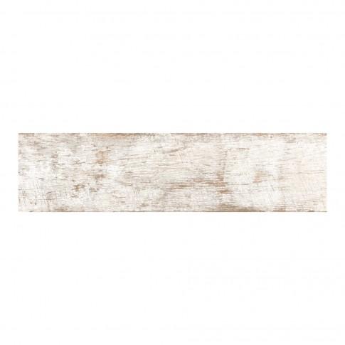 Gresie exterior / interior portelanata 9245 Bottega mata, antiderapanta, alba, imitatie lemn, 15.5 x 60.5 cm