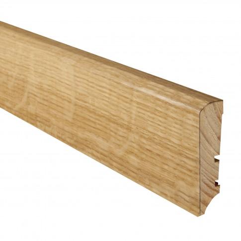 Plinta parchet lemn P50, stejar lacuit, 2200 x 60 x 16 mm