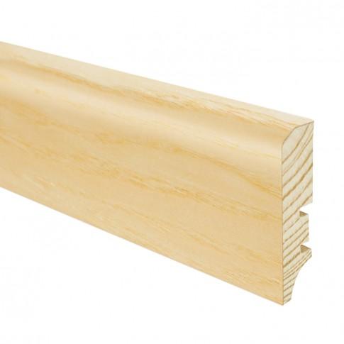 Plinta parchet lemn P50, frasin lucios, 2200 x 60 x 16 mm