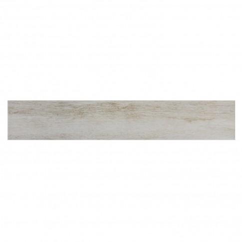 Plinta gresie portelanata Forest Blanco, mata, alba, 8 x 45 cm