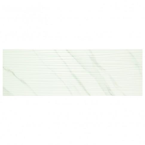 Faianta baie / bucatarie Atlas Lineal Eu, alba, lucioasa, 28.5 x 85.5 cm