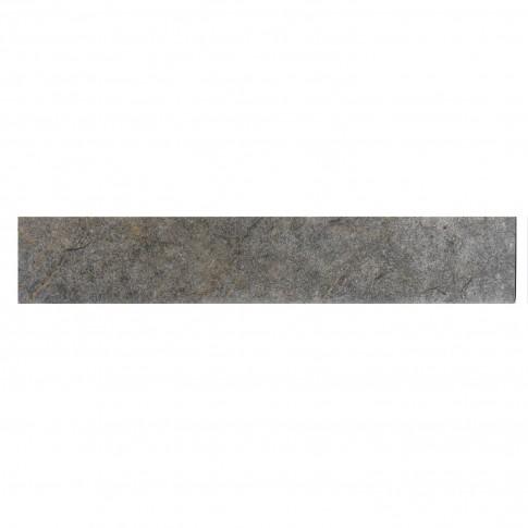 Plinta gresie portelanata Caucaso, mata, gri, 8 x 45 cm