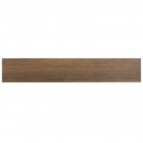 Plinta gresie portelanata Woodstyle, mata, maro inchis, 8 x 45 cm