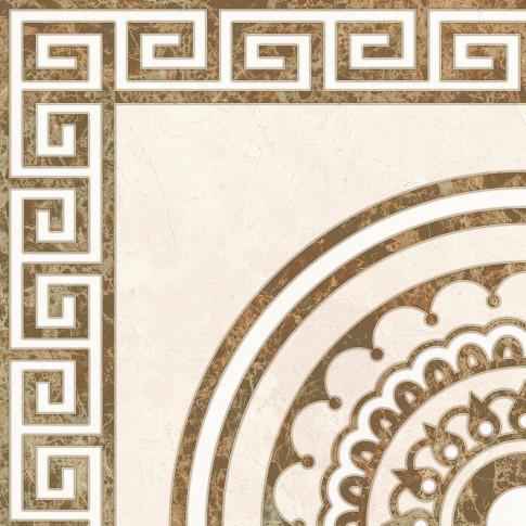 Gresie decor interior, universala, Palace Crema, lucioasa, crem, PEI 3, 45 x 45 cm