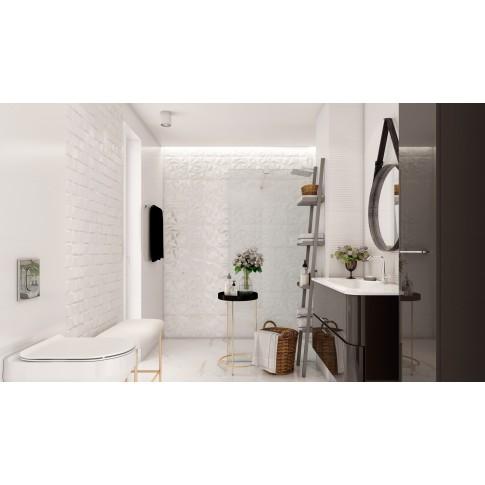 Gresie exterior / interior portelanata Palatina Blanco Brillo, lucioasa, alba, 45 x 45 cm