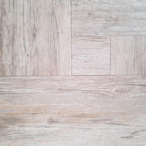 Gresie exterior / interior portelanata antiderapanta Kare Ahsap rectificata gri mata, imitatie lemn, 60 x 60 cm