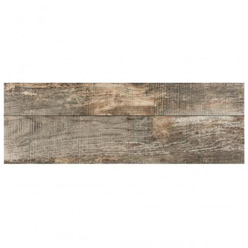 Gresie exterior / interior portelanata Forest Wood gri, mata, imitatie lemn, 31 x 93 cm