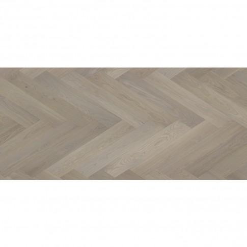 Parchet triplustratificat 14 mm, Herringbone Beige Dhalia, Diana Forest, stejar gri family, finisaj lac mat