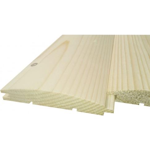 Lambriu lemn rasinoase Promobila, interior / exterior, semirotund, 3000 x 110 x 19 mm