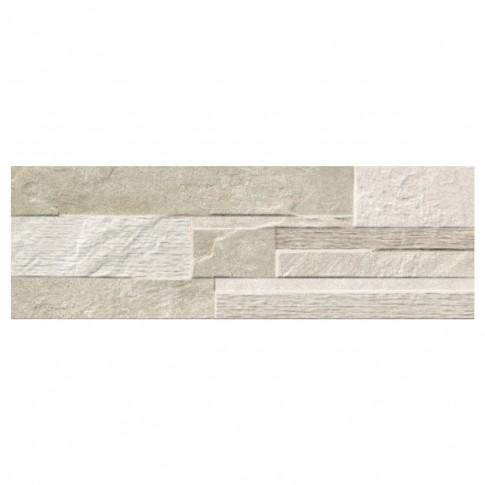Faianta decor, baie / bucatarie, Cantera Mureto Sand, mata, bej, 20 x 60 cm