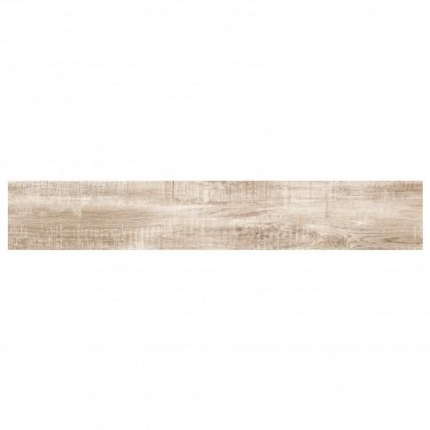 Gresie exterior / interior portelanata rectificata Lavin Beige mata bej, imitatie lemn, 15 x 90 cm