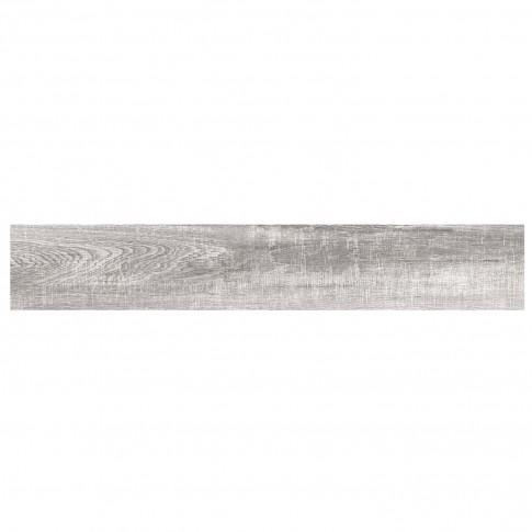 Gresie exterior / interior portelanata rectificata Lavin Grey mata gri, imitatie lemn, 15 x 90 cm