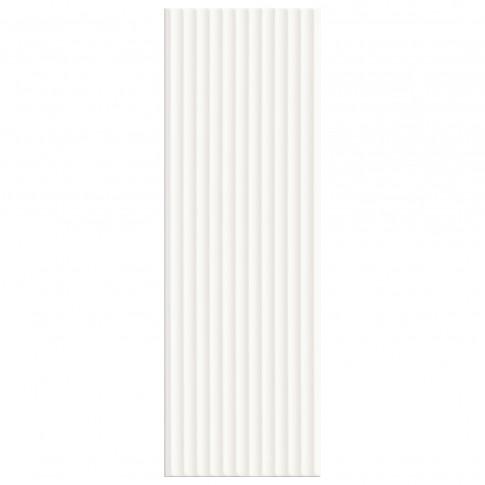 Faianta baie / bucatarie Soul MP707 White Stripes lucioasa alba 25 x 75 cm