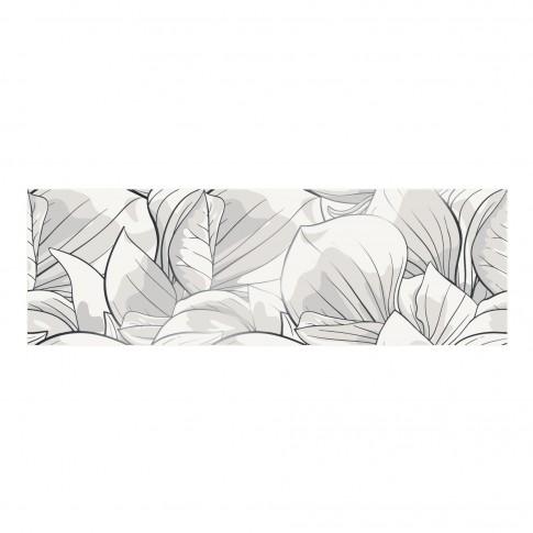 Decor faianta baie / bucatarie Flower Cemento OD486-006, alb, 24 x 74 cm