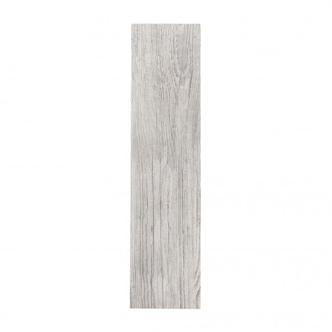 Gresie exterior / interior portelanata Pitsaw Greige, mata, gri cu insertii maro, imitatie lemn, 15 x 60 cm
