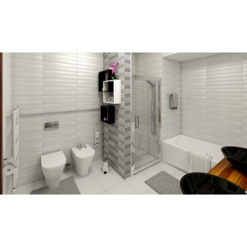 Gresie decor interior, universala, Liverpool White, gri, lucioasa, PEI 4, 31 x 60 cm