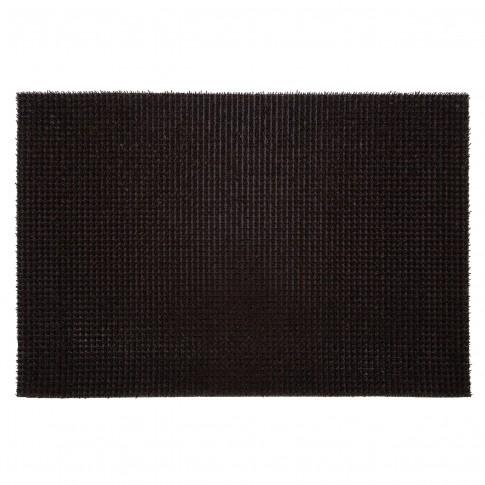 Covor intrare exterior FinnTurf, polietilena, maro, dreptunghiular, 60 x 45 cm