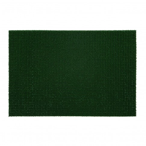 Covor intrare exterior FinnTurf, polietilena, verde, dreptunghiular, 90 x 60 cm